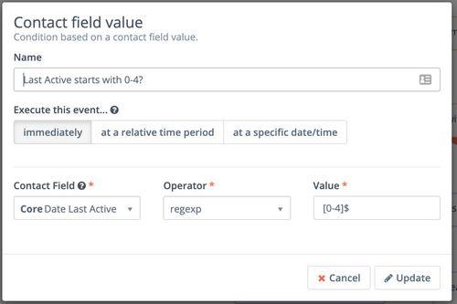 Mautic contact field value last active